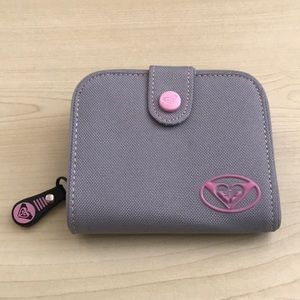 Roxy Gray/Pink polyester wallet